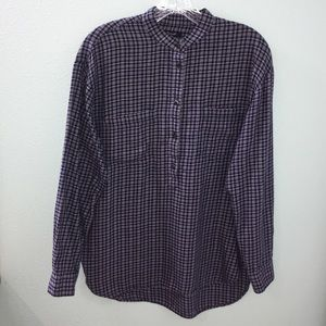 Madewell Flannel Button Down Long Sleeve Plaid Top